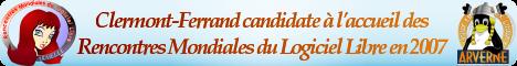 Clermont-Ferrand candidate à l'accueil des Rencontres Mondiales du Logiciel Libre en 2007